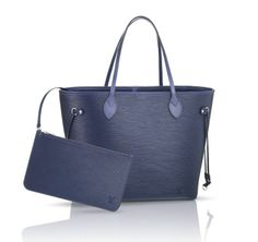 Add color to your wardrobe with the iconic Louis Vuitton Neverfull, now available in Epi Indigo.