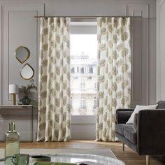 Rideau à ruban fronceur Filico blanc Madura Curtain Fabric, Curtain Rods, Linen Fabric, Pleated Curtains, Door Curtains, Window Rods, Curtain Length, Power Colors, Colors