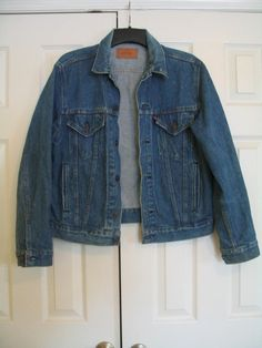 Vintage LEVI'S BLUE DENIM Jean Jacket 44R Trucker 80s  70506 0216 USA  #Levis #JeanJacket