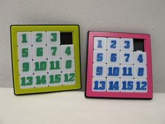 1970s Vintage Number Sequence Toys Yellow Pink (Set of 2). $4.00, via Etsy.