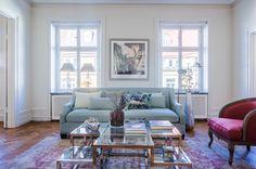 #styling #homestyling #vardagsrum #livingroom Tre rum i fil på Grev Turegatan | Move2