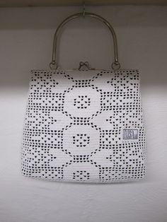 Handbag made from recycled materials.