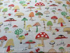 RPE357-Toadstool-Mushrooms-Retro-Kitschy-Cute-Cotton-Fabric-Quilt-Fabric