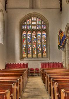 Inside the Church of St Mary in Bibury, Gloucestershire in theCotswolds