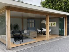 The wooden pergola is a good solution to add beauty to your garden. If you are not ready to spend thousands of dollars for building a cozy pergola then you may devise new strategies of trying out something different so that you can re Outdoor Pergola, Pergola Plans, Outdoor Rooms, Outdoor Living, Outdoor Decor, Backyard Patio Designs, Backyard Landscaping, Backyard House, Landscaping Ideas