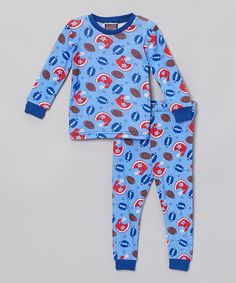 Look what I found on #zulily! Blue Sports Pajama Set - Infant, Toddler & Boys #zulilyfinds