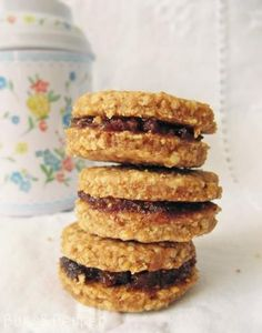 Diet Recipes, Vegan Recipes, Healthy Sweet Snacks, Kaja, Nutella, Biscuits, Oatmeal, Sweets, Food And Drink
