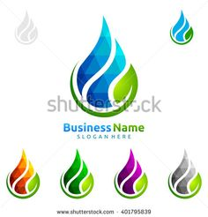 Find Blue Water Drop Green Leaf Ecology stock images in HD and millions of other royalty-free stock photos, illustrations and vectors in the Shutterstock collection. Vector Logo Design, Custom Logo Design, Custom Logos, Graphic Design, Laundry Logo, Waves Icon, Water Logo, Leaf Logo, Logo Design Services