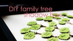 DIY Family Tree Shadow Box