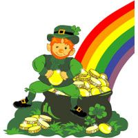 St. Patricks Day Activities for preschoolers. 5 little shamrocks, and the Leprechaun Song (I'm a little Teapot tune).