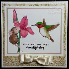 House Mouse Beautiful Day by SnoopyDance - Cards and Paper Crafts at Splitcoaststampers House Mouse Stamps, Prim Christmas, Scandinavian Christmas, Penny Black, Sympathy Cards, Crafty Projects, Flower Cards, Pet Birds, Beautiful Day