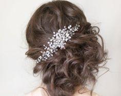 Copricapo da sposa, sposa capelli Vine, Vine nuziale capelli accessori per capelli sposa, White Sposa Haedpiece, Halo nuziale, Ornament, Crystal Vine