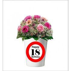 131 -  Geburtstagsgeschenk 18 Pflanzentopf ohne Pflanze Happy 30th Birthday, Mugs, Tableware, Plants, Gifts, Dinnerware, Tumblers, Tablewares, Mug