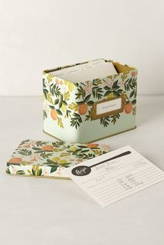 Grand Dame Recipe Tin - anthropologie.com