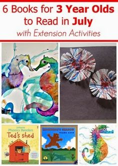 July Book Recommendations for 2-3 year olds and extension activities #booklists #ece #readingactivities