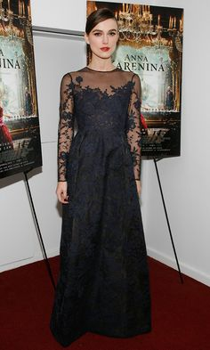 Keira Knightley in Valentino Couture, Anna Karenina Screening