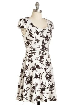 Fresh Frost Dress. The weather outside may be frosty, but you twirl through the party with warm, winsome ease in this floral dress!  #modcloth