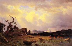 Art Bierstadt Albert Wharf Scene A4 Print