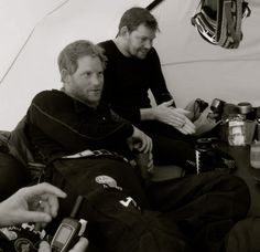 splendidroyalty:  Prince Harry and a teammate from Walking at the Wounded, South Pole.