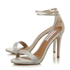 840c5998fa8 STEVE MADDEN STECY SM - Two Part Ankle Strap Heel Sandal - silver