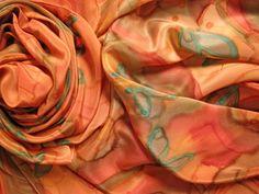 Pañuelos de  seda pintados