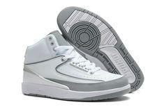 eb9b5ef75a6 Air Jordan 2 White Wolf Grey Jordan Basketball Shoes, Jordan Sneakers,  Cheap Jordan Shoes