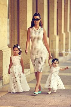Mom and daughters matching dress Fashion fabulous