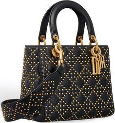 Lady Dior, Luxury Bags, Luxury Handbags, Leather Satchel, Black Suede, Shoulder Bag, Tote Bag, Purses, Kitchen Dining