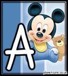 Tierno alfabeto Bebés Disney.