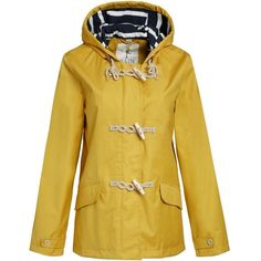 Women's Seasalt Seafolly Jacket - Mustard (39.405 HUF) ❤ liked on Polyvore featuring outerwear, jackets, mustard yellow jacket, seasalt, toggle jacket, mustard jacket y hooded jacket