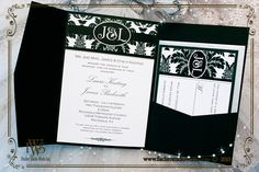 A Black Tie Affair Damask Wedding Invitation Also Available In Other Colors To Match Your Event