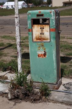 Route 66 Gas Pump - Adrian Texas Photograph by Frank Romeo
