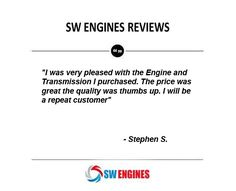#SWEngines Read actual customer reviews for SW Engines Reviews.