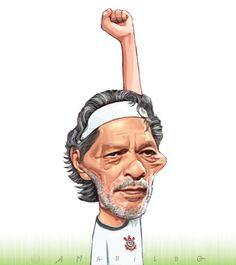 Caricatura – Sócrates Socrates, Sports Clubs, Fantasy Art, Legends, Cartoons, Soccer, Characters, Football, Humor
