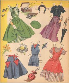 Jane Powell Cut Out Dolls, 1952 Whitman #117115 (9 of 10)