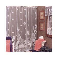 Lace Shower Curtain Seashells Beach Coastal Tub Sea Nautical Bathroom Bath  NEW #HeritageLace #Nautical