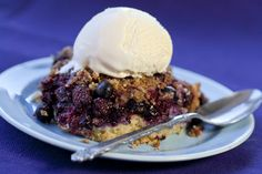 Mixed berry cobbler crisp