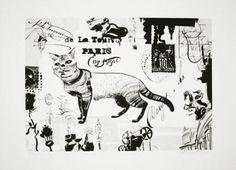"""Dave McKean. Sérigraphie """"De la Tour Paris"""" Dave Mckean, Illustrations, Moose Art, Tours, Paris, Animals, Mirror, Photography, Dibujo"""