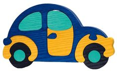 Blue Beetle -Montessori - Waldorf wooden puzzle, made by hand of maple wood,no harmful colors and no lacquer