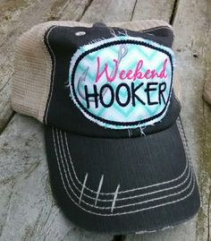 4227c228c72 The listing is for a unstructured distressed mesh back trucker hat. It has  a Velcro strap in the back. The patch is teal Chevron fabric with  embroidered ...