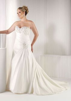 Higher The Neck And Throat Bridal Dress Curvy Weddings Gowns Renew Wedding Vows…