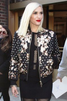 9 Ways to Rock a Floral Bomber Jacket Like Your Favorite Celebrity - GWEN STEFANI - from InStyle.com
