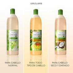Combate cada problema de tu cabello con exquisitas combinaciones de fragancias frutales y extractos naturales de plantas. #CabelloNormal #CabelloDañado #CabelloSeco