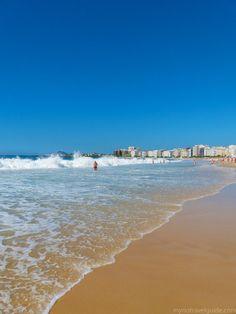 Typical Sunday morning on Copacabana Beach, Rio de Janeiro, Brazil