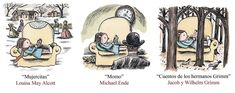 Escogí esta ilustración de Liniers como herramienta artística para despertar la curiosidad por la lectura.