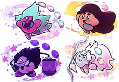 Tumblr: Gemfuck || Steven universe gems as little Kirby's (5/6)