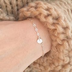 Personalized initial bracelet.  Get creative! Personalize these awesome little discs with initials of your kids, best friends, or your own initials! ❤
