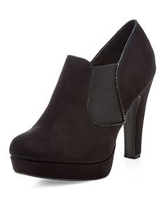 Black Suede Heeled Ankle Boots | New Look
