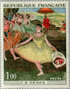 Vintage French Edgar Degas Postage Stamp from 1970 @ Vintage Fangirl Edgar Degas, Old Stamps, Vintage Stamps, Art Postal, Postage Stamp Art, Stamp Printing, Mail Art, Stamp Collecting, French Vintage