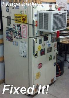 A melhor maneira de economizar eletricidade é reunir tudo num aparelho frankenstein.   33 projetos faça você mesmo que nunca deveriam ter acontecido